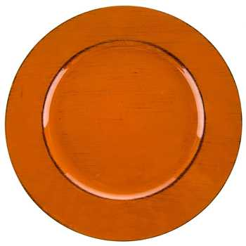 Burnt Orange & Brown Plate Charger